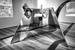 Self(ie) Interrupted (Ben at St. Louis Energized) Tags: city urban blackandwhite sculpture abstract reflection monochrome modernart stlouis stl forestpark selfie saintlouisartmuseum