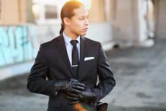 Dale Manzano (reecord2) Tags: portrait fashion canon graffiti losangeles longhair 85mm business suit gloves fullframe dtla 6d 6thstreetbridge richardsheehan
