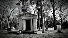 Woodlawn Cemetery Detroit, Michigan (Crunch53) Tags: bw cemeteries cemetery graveyard outdoors scenery michigan detroit ground mausoleum burying woodlawn