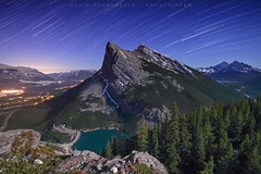 Ha Ling Star Trails - Canadian Rockies (Gavin Hardcastle - Fototripper) Tags: lake canada mountains way stars star spring nightscape trails peak astro astrophotography alberta moonlight banff ha canmore milky ling