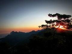 The sunset in the Corcovado.... (ana.jerlich) Tags: autumn sunset sky orange sun rio riodejaneiro bluesky corcovado april
