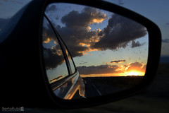 Las Vegas (BRubioPhotography) Tags: california city trip sunset arizona usa love car mirror lasvegas flag nowhere roadtrip statueofliberty