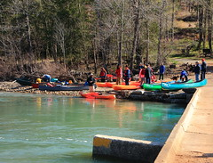 Getting Ready to Launch - Ponca Access on Bufalo River, Northwest Arkansas (danjdavis) Tags: canoes arkansas kayaks buffalonationalriver buffaloriver