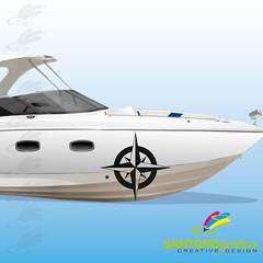 rosa dei venti - adesivo per barca (santoro.grafica) Tags: barca adesivo vinile rosadeiventi prespaziato vinileprespaziato santorografica adesivoperbarca