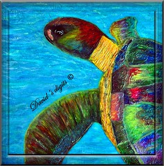 Hippy turtle painting (David's digits) Tags: yahoo google turtle paintingart hippyturtle