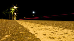 car light (Fer Gonzalez 2.8) Tags: street leica night ligths rout sierradelospadres redligth leicadlux4