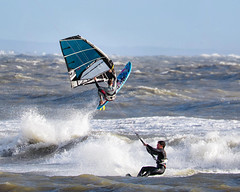 PC311393-Edit (Brian Wadie Photographer) Tags: gulls oystercatcher windsurfing kiting em1 goodlight 14xtc avonbeach canon70300lis hemgistburyhead