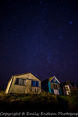 Mudeford Beach huts at Night (Emily_Endean_Photography) Tags: sea christchurch beach night stars landscape nikon nightscape wideangle huts dorset nightsky dslr bournemouth beachhuts astrology mudeford