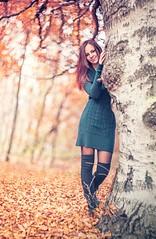 Vrs tndr (hispan.hun) Tags: autumn red portrait orange tree cute girl smile yellow forest vintage lens budapest russian normafa helios 44m6 hispansphotoblog