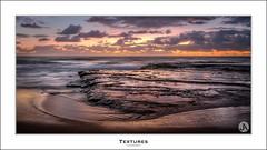 Textures (John_Armytage) Tags: seascape beach clouds sunrise dawn sand focus sony australia nsw northernbeaches sonyalpha turimetta turimettabeach sony1635 sonyaustralia johnarmytage focusphotographers sonya7r2