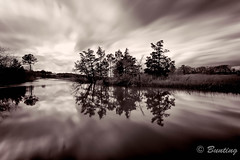 Canary Creek Snow Clouds Building (stevebfotos) Tags: longexposure bw storm water clouds motionblur lewes ndfilter canarycreek