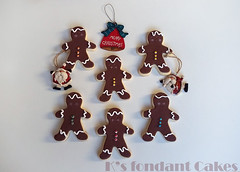 Gingermen Cookies (K's fondant Cakes) Tags: xmas brown cookies fondant royalicing  gingermen