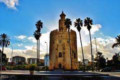 Tower of Gold, Seville, Spain (Torre del Oro, Sevilla, Espaa) (j_santander74) Tags: espaa tower architecture canon sevilla spain arquitectura seville canonrebel andalusia torredeloro artemusulman goldentower almohade artealmohade photoamateur canonrebelxsi canonrebelxsi450d almohadarchitecture museonavaldesevilla almohadart photograperamateur