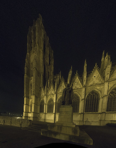 Brusells Cathedral at Night