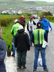 Taking Station (mdavidford) Tags: road bag cycling waiting hills bushmills stage2 giroditalia feedzone musette soigneur whiteparkroad cannondaleprocycling giantshimano csfbardiani