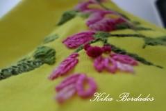KikaBordados Kika  Krauss 081 (Kika Bordados by Angelica Krauss) Tags: pink flowers flores handmade embroidery laranja crochet tshirt amarelo bordados manualidades croche embroider feitomo camisetabordada camisetabordadamo bordadosfeitomo kikabordadoskikakrauss