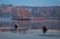 Frosty Riverscape (bjorbrei) Tags: trees winter snow cold ice water norway forest river frost fredrikstad gressvik crookery