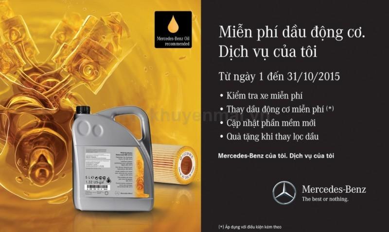 Vietnam Star Automobile miễn phí dầu động cơ cho 1000 khách hàng sở hữu Mercedes-Benz