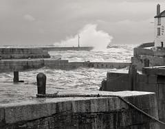 Choppy Seas at Porthleven (David Canon) Tags: sea coast pier cornwall waves harbour porthleven