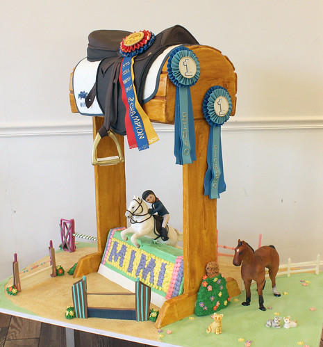 Equestrian Bat Mitzvah Cake