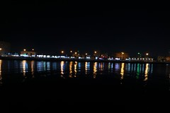 There's a color in every way. (sharleen.sadava) Tags: street longexposure travel light color reflection love night river photography lights rainbow photographer uae professional amateur catchycolor catchy beginner ajman