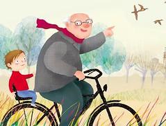 il biciclettone del nonno (paola formica) Tags: nature grandfather byke childrenillustration