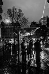 Bus Stop (::nicolas ferrand simonnot::) Tags: street white black paris reflection bus tower art rain saint photography dc sigma eifel stop dominique f18 exploration rue | 2016 1835mm hsm