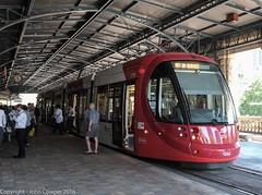 Sydney Light Rail - LRV2118 has arrived at Central (john cowper) Tags: sydney newsouthwales centralrailwaystation sydneylightrail sydneypublictransport transportfornsw lrv2119