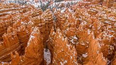 Bryce Canyon Hoodoos (PIERRE LECLERC PHOTO) Tags: travel red usa snow nature contrast landscape outdoors utah nationalpark sandstone desert roadtrip canyon adventure explore wilderness brycecanyon hoodoos dusting rockformation natgeo pierreleclercphotography
