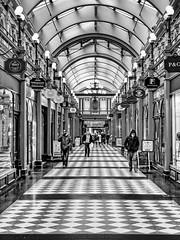 A British Mall. (Mac McCreery) Tags: blackandwhite mall birminghamuk greatwesternarcade pentax3524 pentaxk5iis