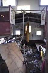 Reynoldsburg, Ohio (7 of 8) (Bob McGilvray Jr.) Tags: wood railroad ohio red abandoned rotting train wooden tracks caboose cupola oh bo abused trashed reynoldsburg baltimoreohio c2208