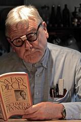 Portrait of a Nerd (ricko) Tags: selfportrait nerd book geek physics dork pocketprotector richardpfeynman werehere sixeasypieces