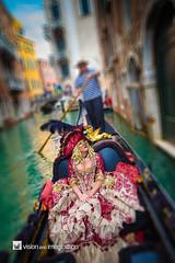 Carnevale di Venezia (Garry - www.visionandimagination.com) Tags: venice urban italy water canon boat canal costume italia mask culture gondola gondoliere carnevaledivenezia eos1dx
