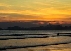 Sunset light (wesleybisetto) Tags: sunset sea brazil mountain beach nature brasil sunrise gold natureza