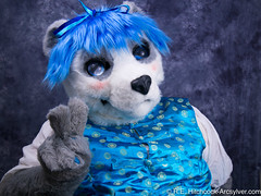 Victory2 (littlerowan) Tags: panda bluehair fury fursuit hairbow paraol