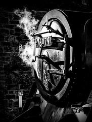 Smokebox (Blaydon52C) Tags: blackandwhite white black monochrome contrast train mono holga transport highcontrast rail railway trains steam railways 4mt nymr riddles 76079