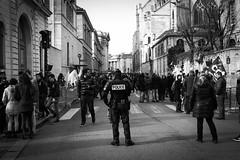 (floco39) Tags: school blackandwhite bw white black paris fuji attack police security terrorism fujifilm bomb iv henri alert x10 fujix10