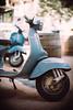 Old barrels (Sator Arepo) Tags: street leica blue urban france vintage 50mm italian vespa dof bokeh barrel scooter f1 parked noctilux avignon m9 leicam9