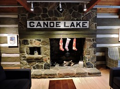 Fireplace, with Christmas stockings hung in front (Will S.) Tags: christmas ontario canada art gallery artgallery canadian trunks emilycarr mypics kleinburg aboriginalart canadiana groupofseven tomthomson mcmichael mcmichaelcanadianartcollection mcmichaelgallery