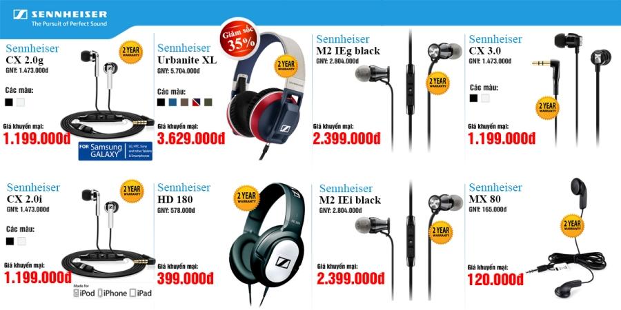 Tai nghe Shennheiser – Thương hiệu Đức giảm giá lên tới 35%