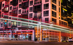 new market rate 27, new affordable 0 (pbo31) Tags: sanfrancisco california pink winter motion color reflection bus window night nikon apartment traffic muni bayarea february nobhill 2016 lightstream vannessavenue boury pbo31 polkgulch marketrate d810