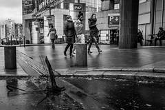 Rain checked umbrella (Sbastien Gross) Tags: bw storm paris rain umbrella wind candid streetphotography trainstation montparnasse sncf 2016 project365