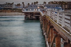 Pacific Beach from Crystal Pier (Photos By Clark) Tags: california beach water pier unitedstates pacific sandiego subjects hdr canon2470 beachshots canon60d