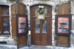 Black Burger. Open :) (VladPL) Tags: door leica winter cafe europe doors burger january lviv ukraine l lvov 130 vlad leicacamera wintercity ukranian кафе дверь flickrfriday львов leicaphotography двери львів вывески leicadigital бургер leicaphoto winterlviv leicaphotos vladl leicaimages leicax2 blackburger january2016 leicaxseries lviv2016 зимовийльвiв leicajpeg ukranianwinter vladplphotos vladpl черныйбургер lvov2016 vladplsphoto красивыевывески