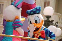 Donald and Daisy (MediumHero6) Tags: face orlando mine florida character parks disney parade wdw waltdisneyworld donaldduck mk magickingdom mainstreetusa daisyduck fof disneyparks facecharacter furcharacter festivaloffantasy