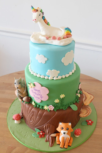 Unicorn Woodland Cake