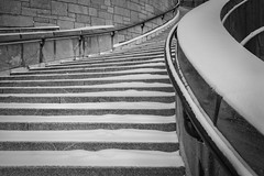 Stairs (Christina Tobin) Tags: urban blackandwhite architecture stairs contrast angle