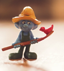 Smurfin' (Captured by AMK) Tags: toys bokeh smurf project365