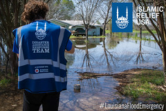 Islamic Relief USA disaster response team responds to the Louisiana Flood Emergency.