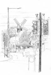 Holgate Windmill from the Boroughbridge Road Junction, York